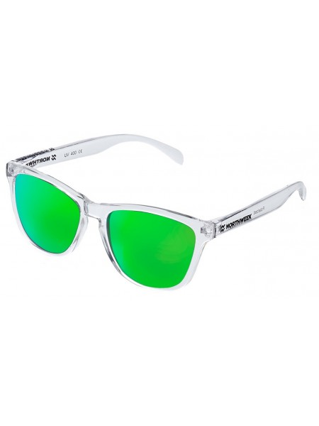 Gafas de sol creative Northweek bright / white/ lente green polarizadas