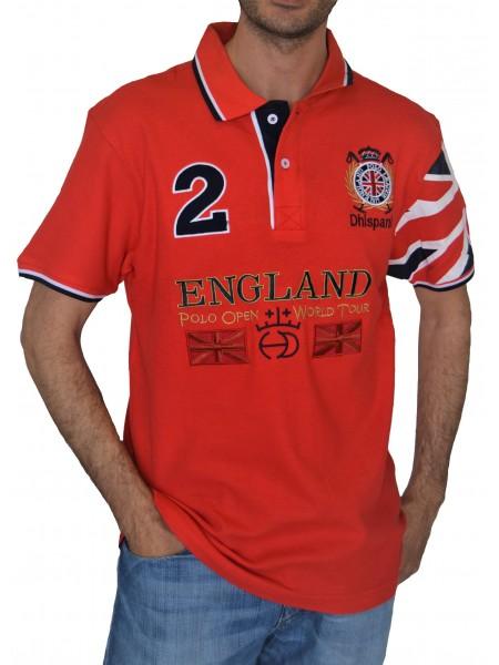Polo Dhispania hombre England color rojo