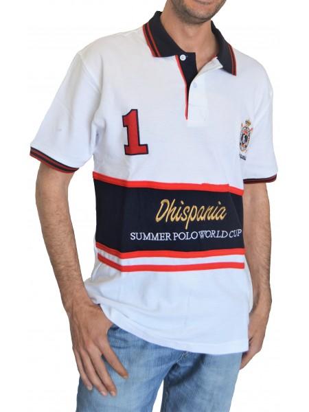 Polo Dhispania hombre Serie Dubay Blanco