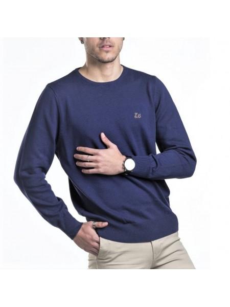 """Jersey de algodón Ridebike """" la vespa"""" hombre color azul Denim"""