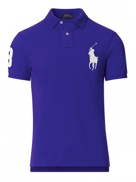 Polo Ralph Lauren hombre slim fit Royal marine