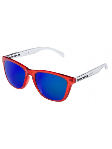 Gafas de sol  Northweek Bright red and white - lente blue polarizada