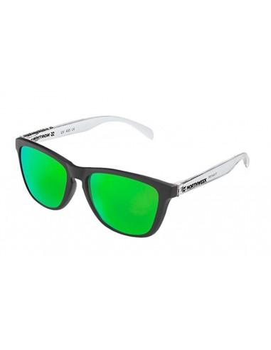 Gafas de sol unisex Northweek Black matte| Bright white | lente verde polarizada