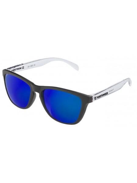 Gafas de sol unisex Northweek Black matte| Bright white | lente azul polarizada