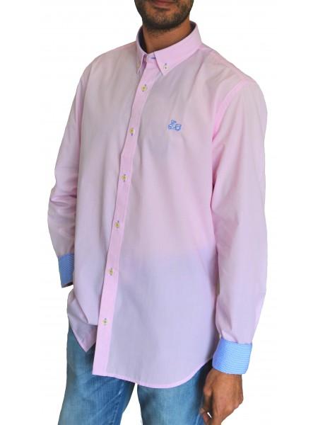 Camisa lisa Ridebike hombre en color rosa