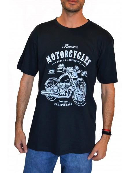 Camiseta TAKE TIME hombre mod American Motor negra