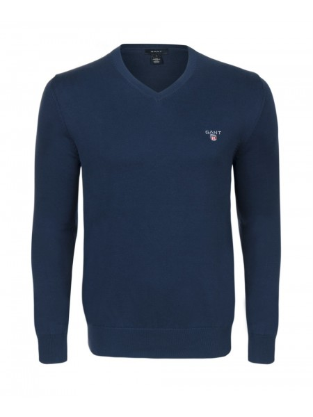 Jersey de algodón Gant hombre color azul navy