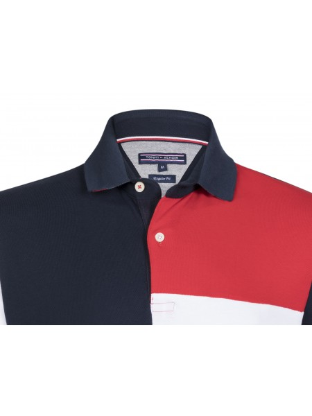 1dfefe569f0 ... Polo Tommy hilfiger hombre Navy   white   red ...