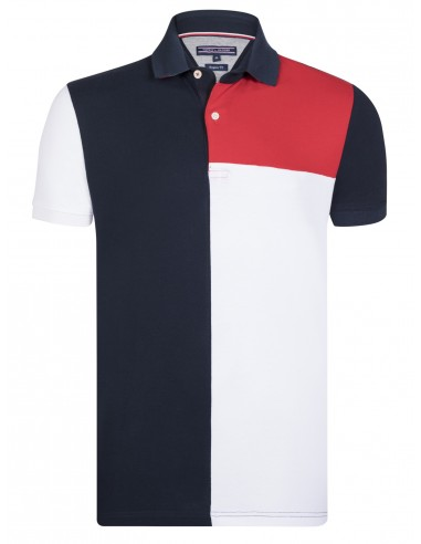 Polo Tommy hilfiger hombre Navy   white   red 65ce8ef3e793a