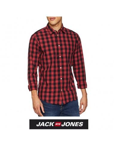 6ed426151ff98 Camisa de cuadros Jack   Jones hombre color roja y negra