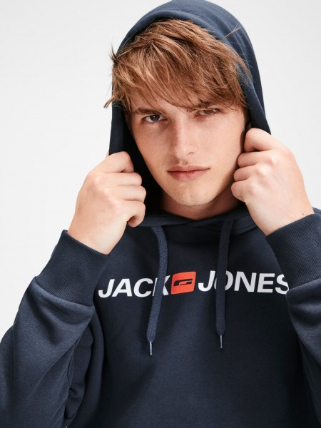 Sudadera con capucha Jack and Jones  en color azul marino