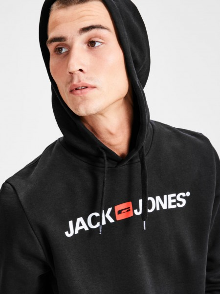 Sudadera con capucha Jack and Jones  en color negro