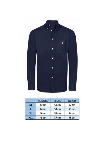 35b4a6f7c2d4a ... Camisa lisa con bolso Gant New Haven en color azul navy