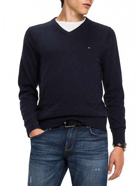 Jersey Tommy Hilfiger hombre Pacific azul marino