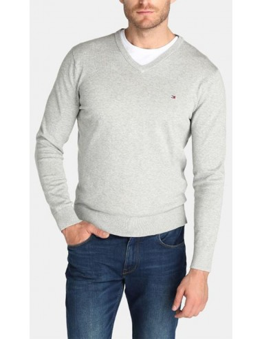 Jersey Tommy Hilfiger hombre Pacific color light gris
