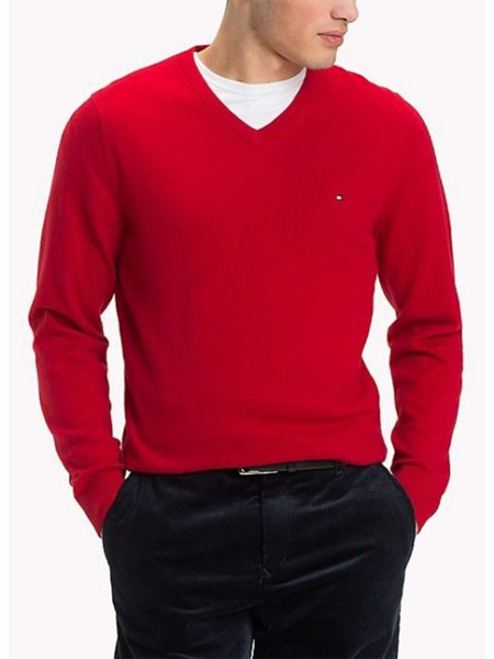 Jersey Tommy Hilfiger hombre Pacific color rojo