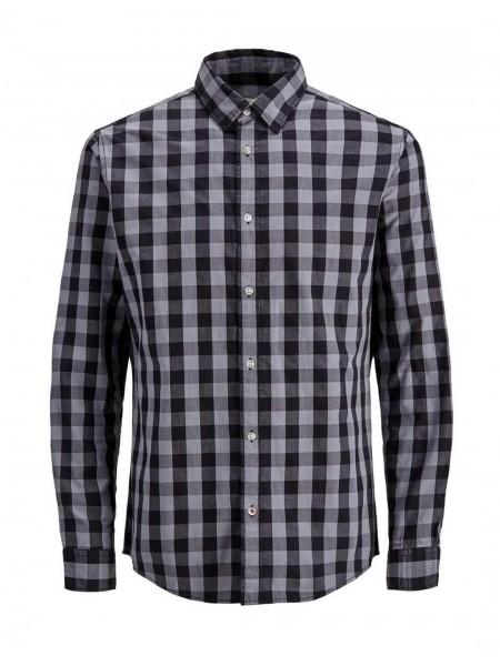 Camisa de cuadros Jack & Jones hombre color negra y blanca