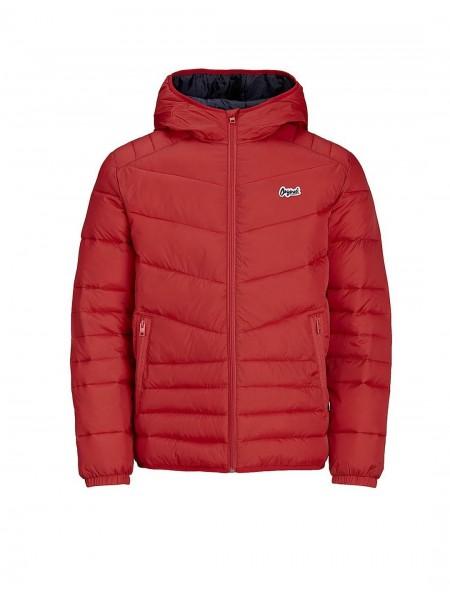 Chaqueta acolchada con capucha Jack and Jones en color rojo