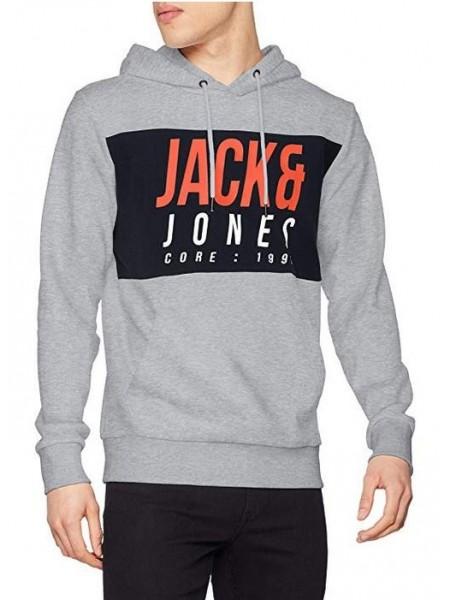 Sudadera con capucha Jack and Jones Light Grey