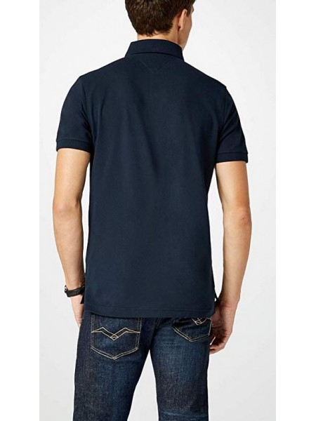 Polo Tommy hilfiger hombre slim fit azul marino