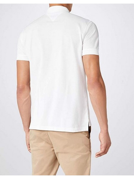 Polo Tommy hilfiger hombre slim fit blanco