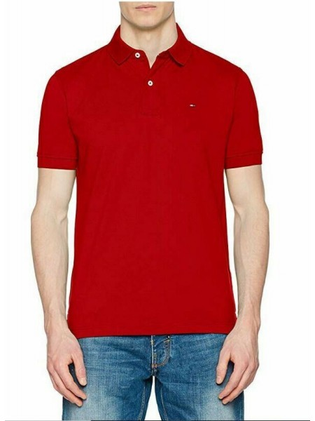Polo Tommy hilfiger hombre slim fit color rojo