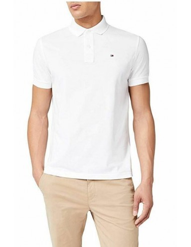 d5bb41fb5a4c5 Polo Tommy Hilfiger hombre color blanco barato
