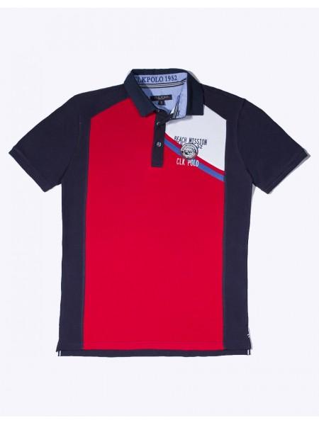 Polo CLK Newport Red tricolor