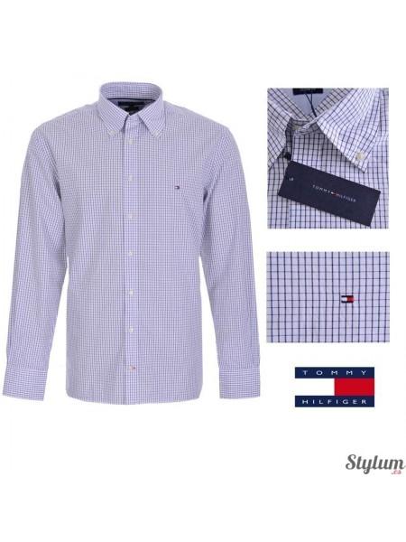 Camisa Tommy  Hilfiger hombre de cuadros en azul y blanco