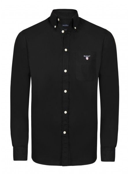 Camisa lisa Gant New Haven en color negro