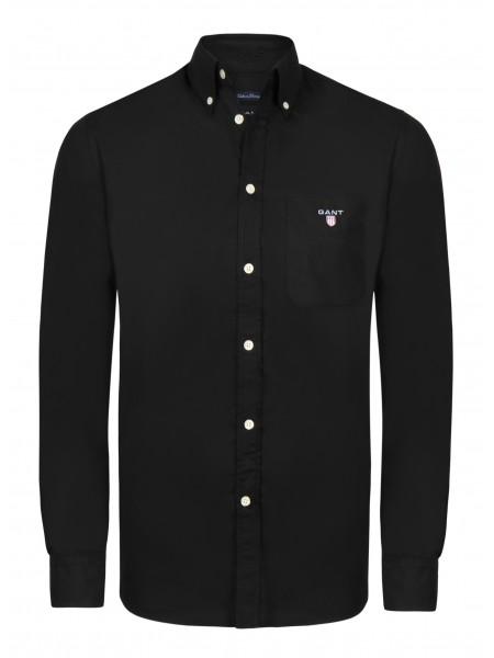 Camisa lisa Gant New Haven en color negro