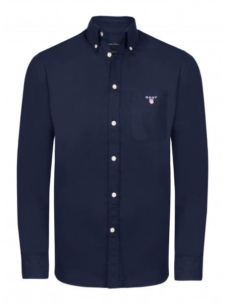 Camisa lisa con bolso Gant New Haven en color azul navy