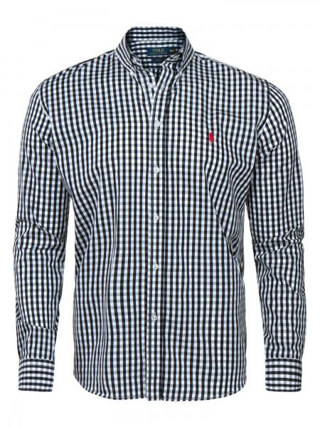 Camisa de cuadros Ralph Lauren hombre color black / white