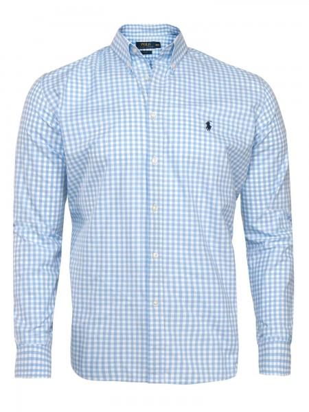 Camisa de cuadros Ralph Lauren hombre en tonos azules y blancos