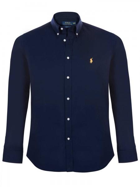 Camisa lisa Ralph Lauren hombre en color azul navy